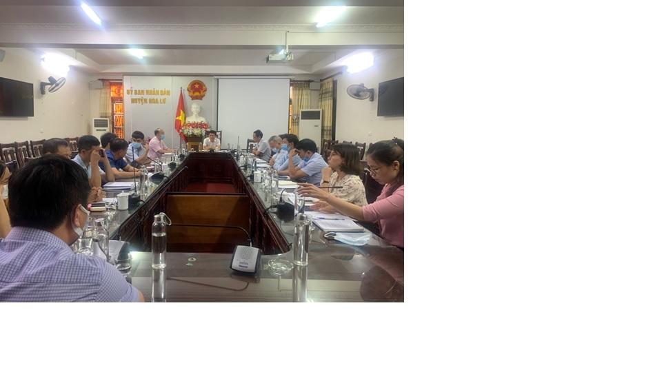 Ban đại diện HĐQT NHCSXH Huyên Hoa Lư tổ chức Hội nghị đánh giá kết quả thực hiện nhiệm vụ 6 tháng đầu năm, triển khai nhiệm vụ 6 tháng cuối năm 2021.